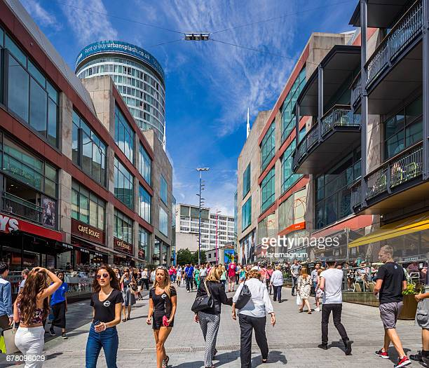 People in Bullring Shopping Centre area