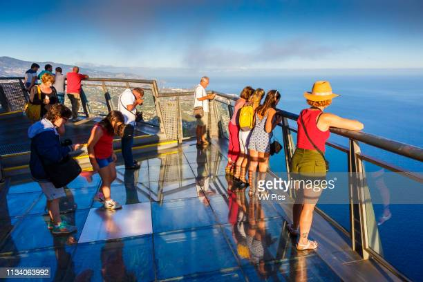 People in Cabo Girao viewpoint Madeira, Portugal, Europe.