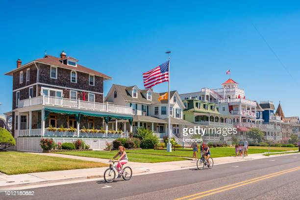 people in cape may new jersey usa - new jersey stock pictures, royalty-free photos & images