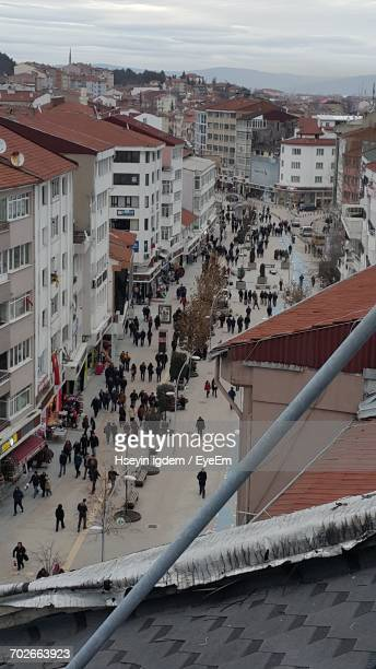 people in city - bolu city stock photos and pictures