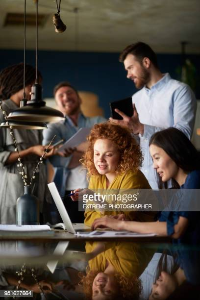 people in coffee shop - coworking stock photos and pictures