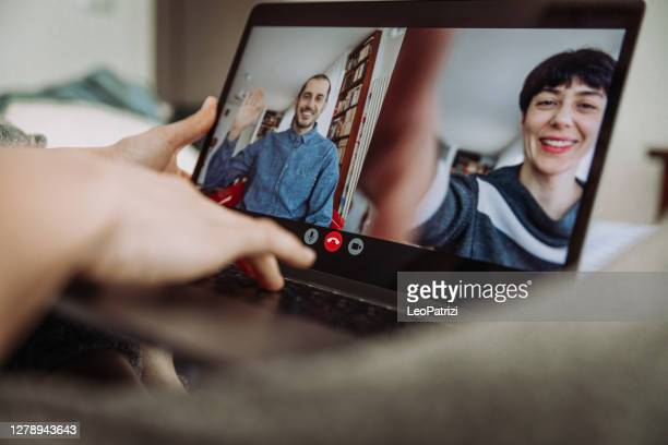 people in conference call - three people stock pictures, royalty-free photos & images