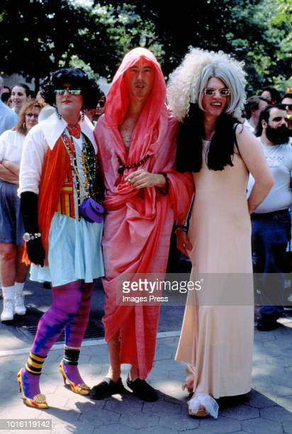 People in costume at Wigstock circa 1993 in New York City.