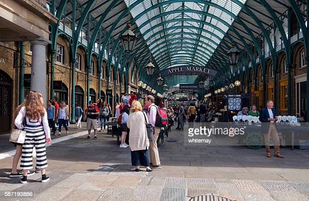 People in Covent Garden's old Apple Market