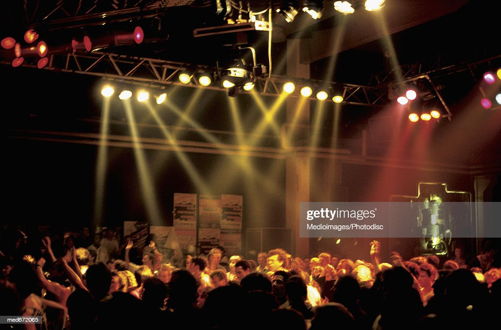 People in crowded nightclub : Stock Photo