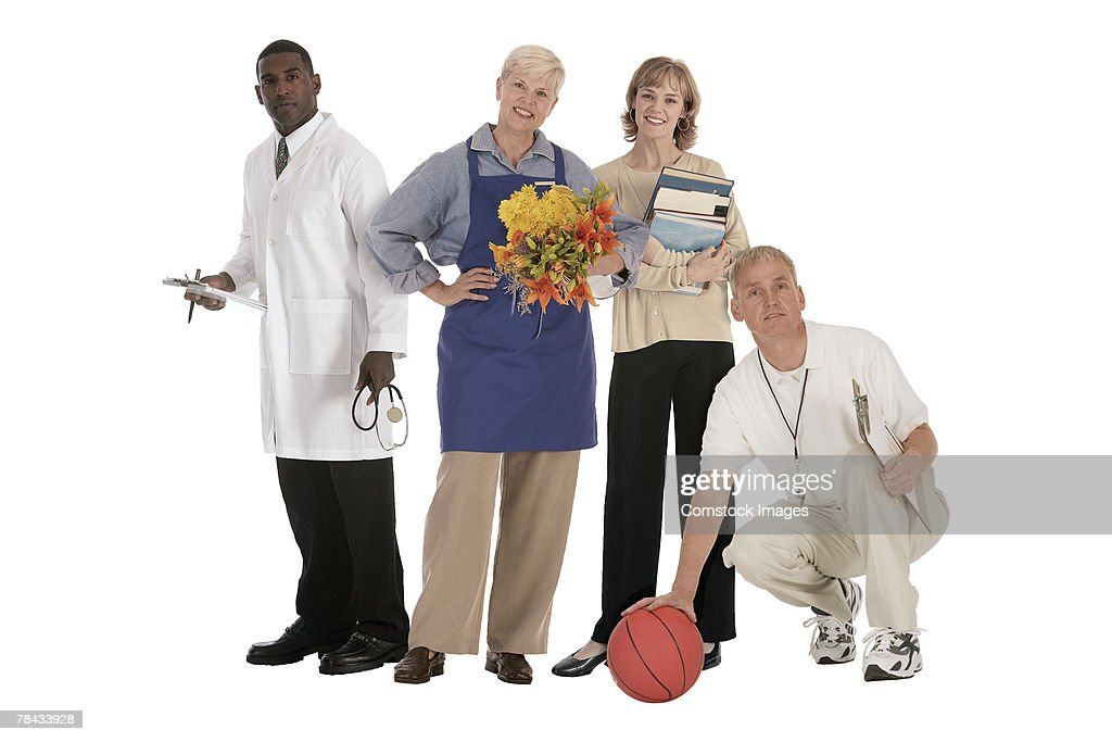People in different professions : Stockfoto