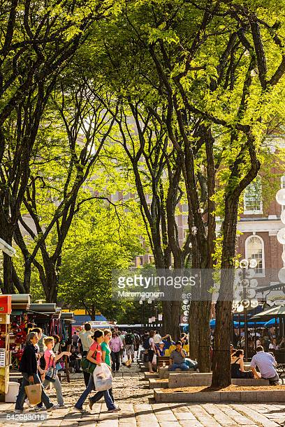 People in Faneuil Hall Marketplace