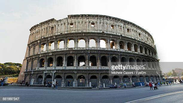 People In Front Of Coliseum