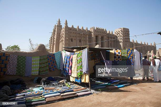 People In Front Of The Grand Mosque In Djenne Mali