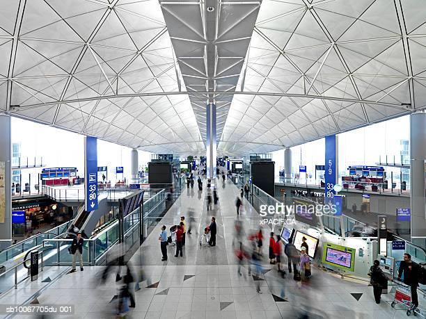 People in Hong Kong International Airport