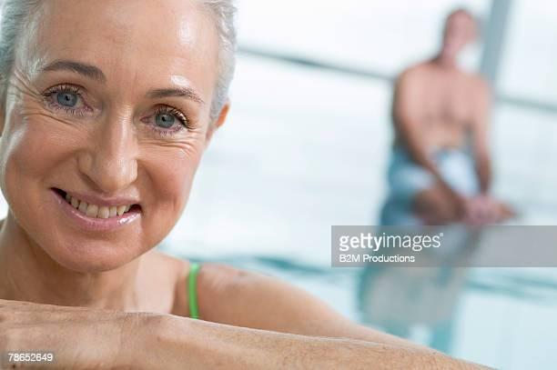 People in indoor pool