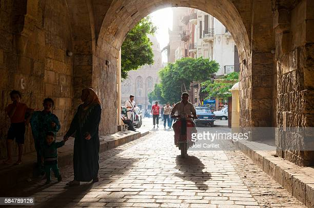People in Islamic Cairo in Cairo, Egypt