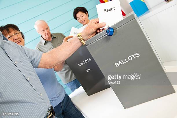 People in line casting their vote