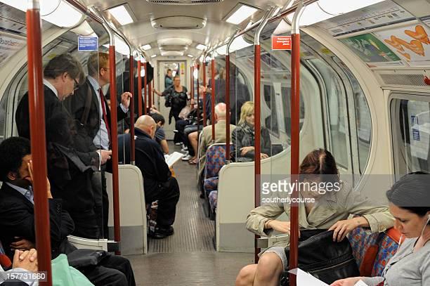 People in London Underground