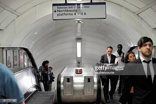 People in London Underground Station