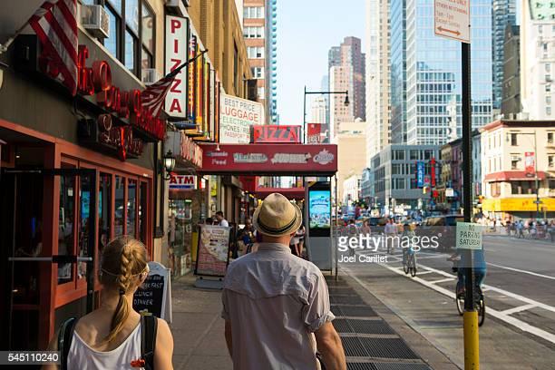 Menschen in Midtown Manhattan, New York City