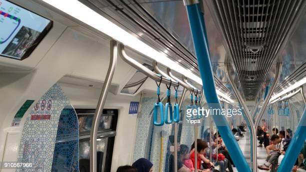 People in MRT train, Kuala Lumpur, Malaysia