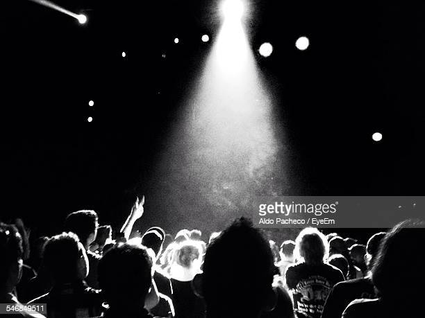 people in music concert - modern rock stock pictures, royalty-free photos & images