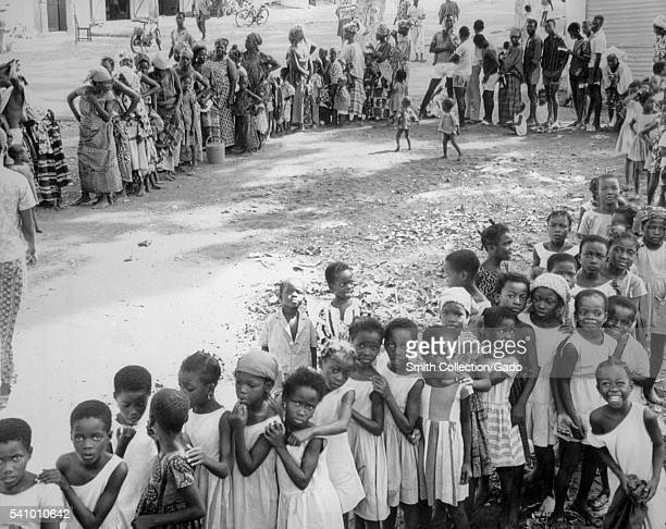 People in Niger West Africa awaiting a smallpox and measles vaccination 1969 In 1979 the World Health Organization declared the global eradication of...