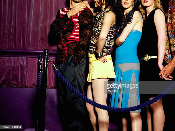 People in Nightclub Queue