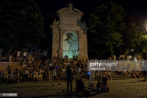 People in Piazza Tulissa during the nightlife in the Trastevere area Trastevere is the thirteenth district of Rome an area frequented by the Roman...