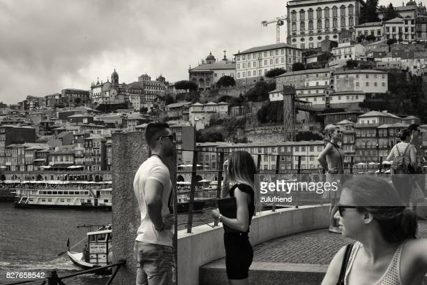 people in porto - douro river stock photos and pictures