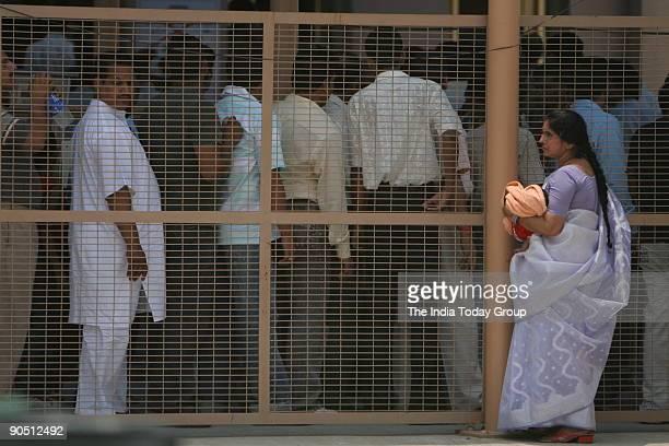 People in queue to enter Akshardham Temple in New Delhi