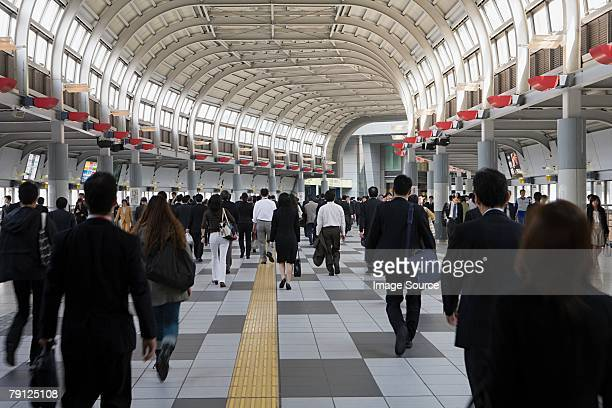people in railway station - railway station stock pictures, royalty-free photos & images