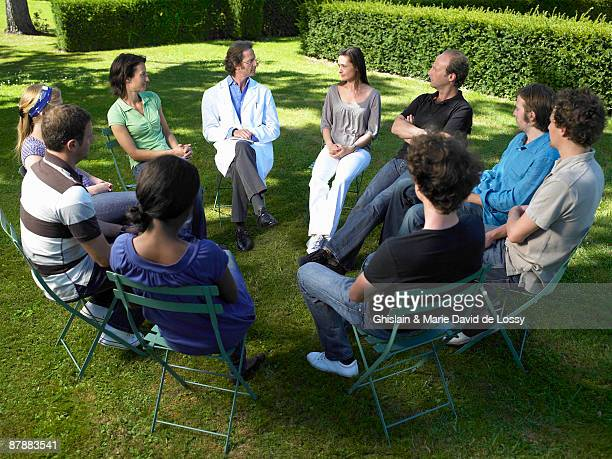 People in rehab,  outdoors