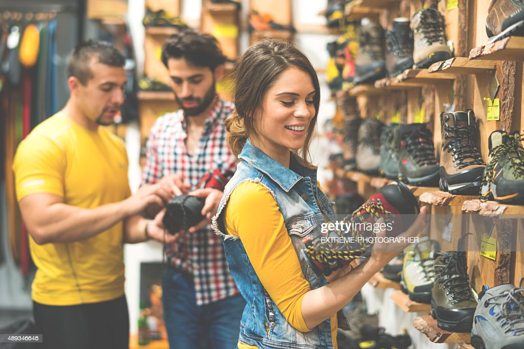 People in shoe store : Stock Photo