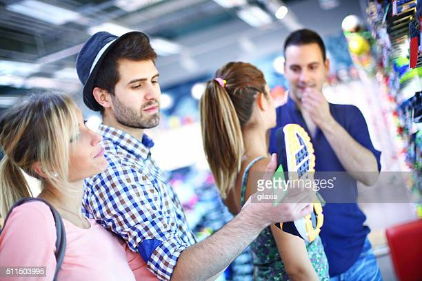 People in shopping mall.
