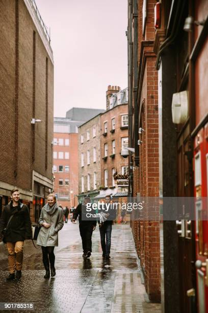 people in soho district in london in winter - lap dancing stock pictures, royalty-free photos & images
