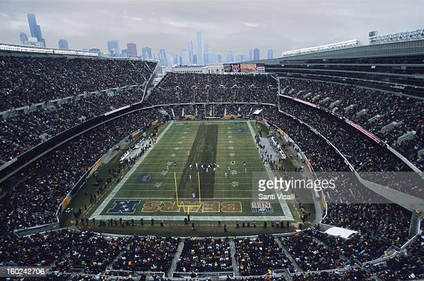 People in Soldier Field during a Bears Game with Chicago Skyline in Chicago 2003