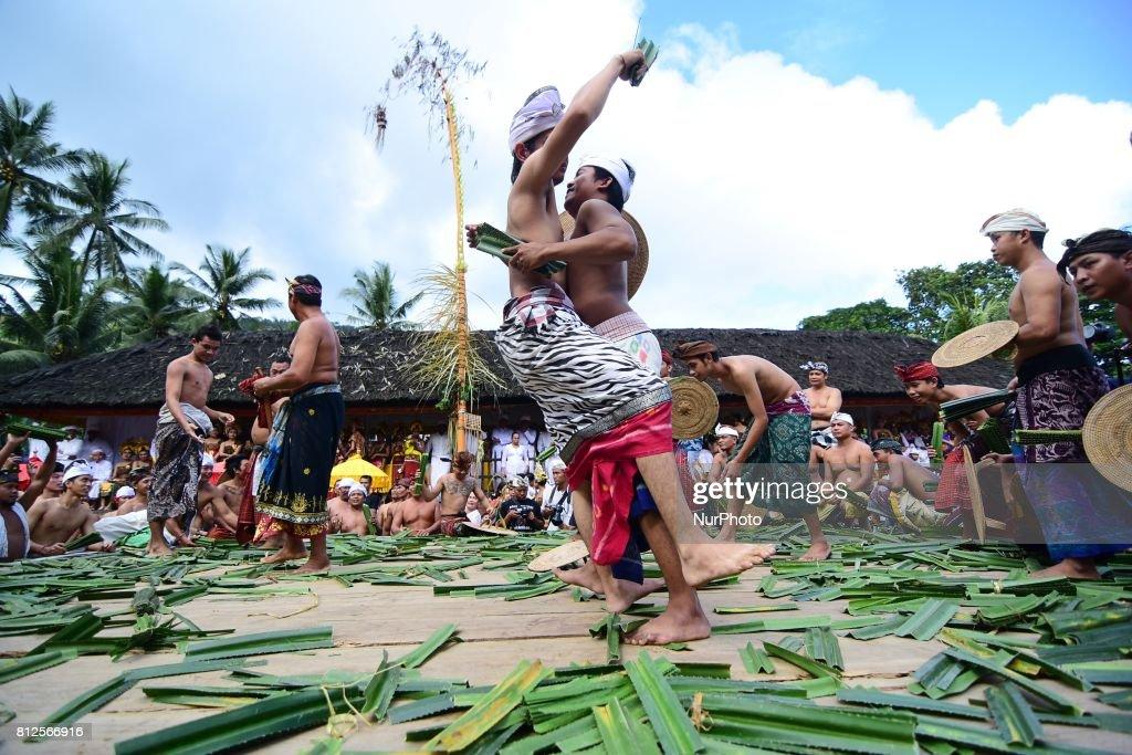 People In Tenganan Dauh Tukad Village Bali Indonesia Held