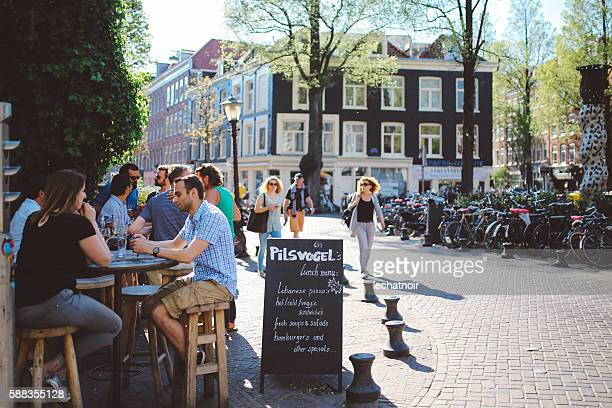 People in the Amsterdam cafe