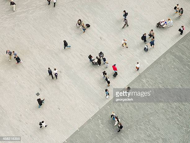People in the City From Above