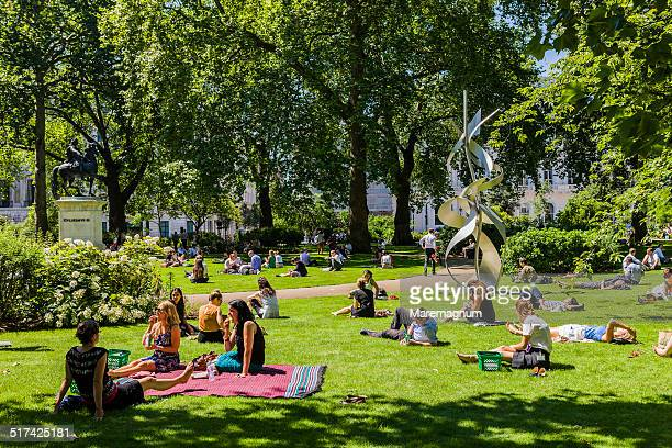 People in the garden of St James's square