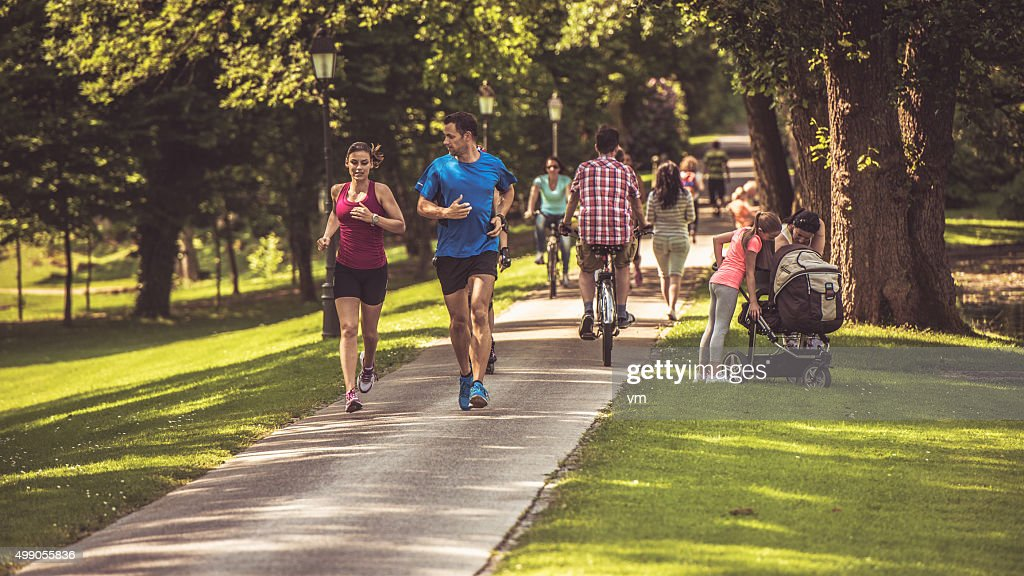 People in the park : Stock Photo