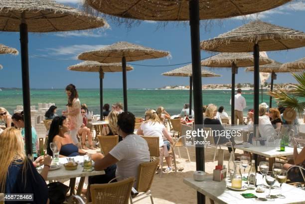 People in the Waikiki Beach Bar in Corralejo, Fuerteventura