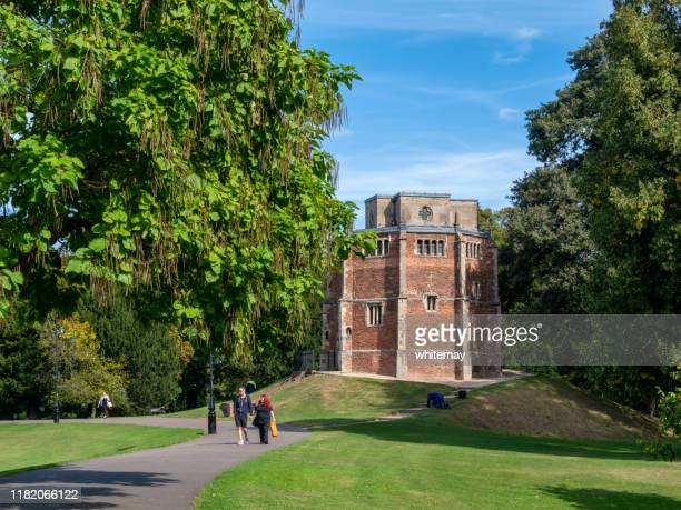 people in the walks near red mount chapel, king's lynn - king's lynn stock pictures, royalty-free photos & images