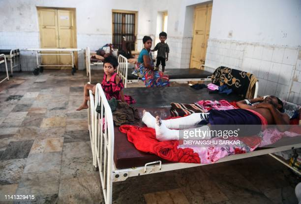 People injured when Cyclone Fani swept through India's eastern Odisha state rest at the district hospital in Puri on May 5 2019 Cyclone Fani one of...