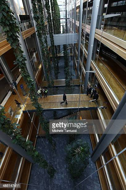 People inside the European Parliament on April 16 2014 in Strasbourg France This week's EU plenary sessions where members are expected to vote on a...