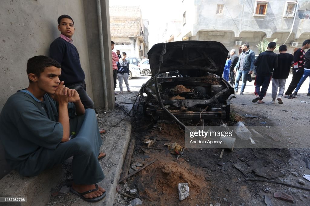 Rocket attacks in Tripoli : News Photo