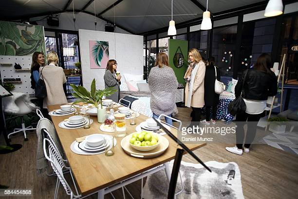 People is seen inside the Kmart's Inspired Living Hub and Hack Workshops at Martin Place on July 29 2016 in Sydney Australia