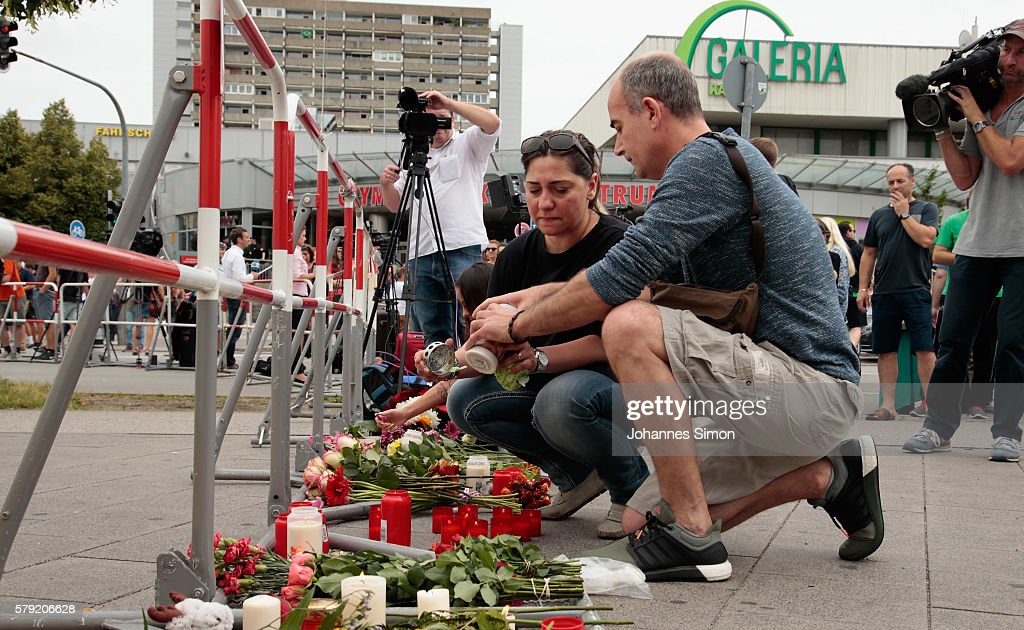 Munich The Day After Shooting Spree Leaves Ten Dead : News Photo