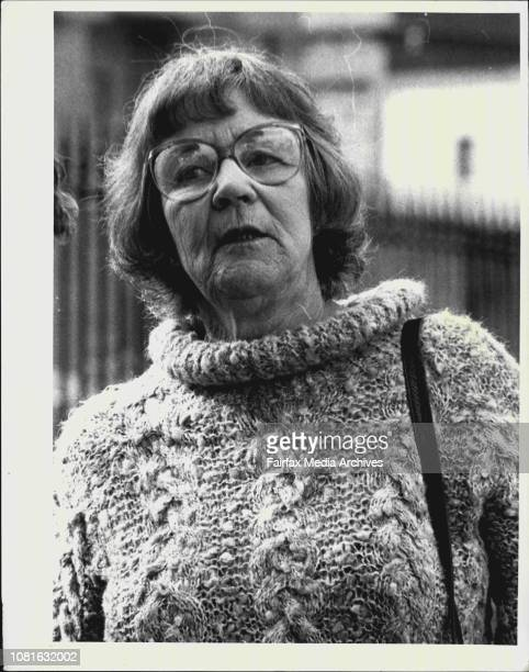 People leave Darlinghurst court after the Cobby trial decision Mrs Anna Burns family friend of Lynches June 16 1987