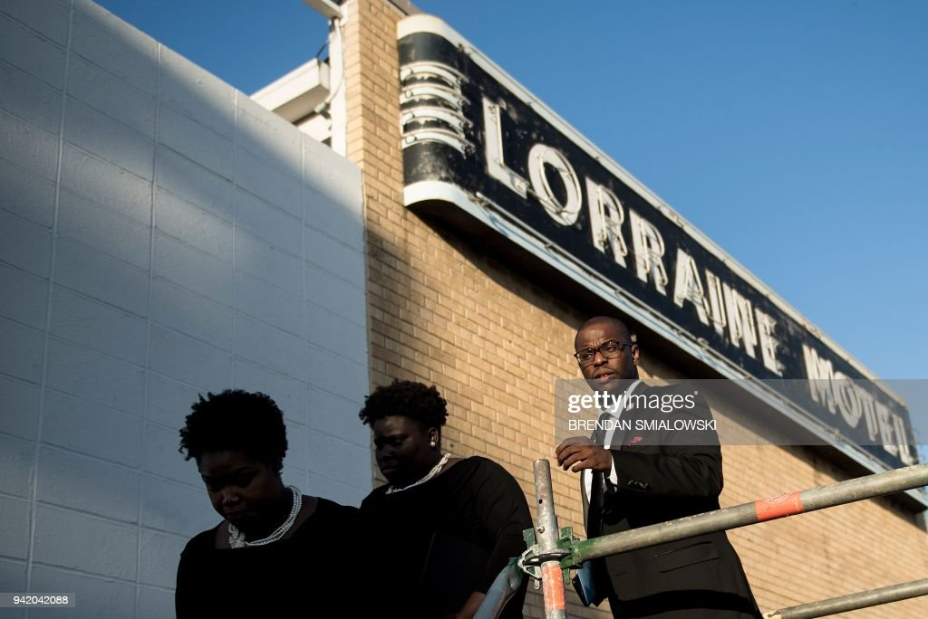 TOPSHOT - People leave the Lorraine Motel following commemorations marking the 50th anniversary of the assassination of Martin Luther King Jr., April 4, 2018 in Memphis, Tennessee. - Americans marked 50 years since the assassination of Martin Luther King Jr, paying tribute to the civil rights leader and reflecting on how 21st century advocates might carry his legacy forward. King was assassinated while standing on the balcony of the Lorraine Motel.