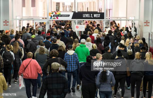 People line up for Black Friday sales outside the Mall of America before it opens on November 24 2017 in Bloomington United States