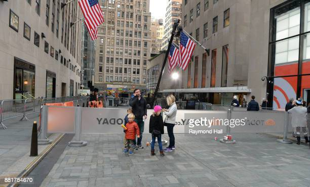 People line up outside 'The Today Show' on November 29 2017 in New York City