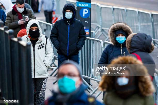 People line up to get a test at Elmhurst Hospital due to coronavirus outbreak on March 24 2020 in Queens New York United States There are now more...